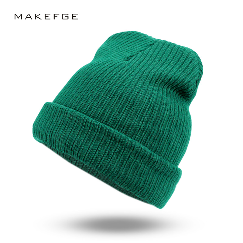 2017 New Fashion Women Men Knitting Beanie Hip-Hop autumn  Winter Warm Caps Unisex 9 Colors Hats For Women Feminino Skullies new fashion women autumn hat caps for girl rivet knit beanie skullies colors men casual hip hop hats adult winter bonnet shop
