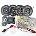 20m 5050 3528 5630 Dimmable LED Strip Tape Light Kit Warm Cold white Waterproof+RF Touch Dimmer + 20A Power Supply + Amplifier