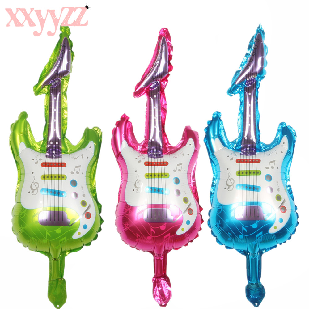 Home & Garden 1pc Toy Guitar 85cm*30cm Helium Foil Cartoon Wedding Birthday Party Festival Decoration Inflatable Air Balloon
