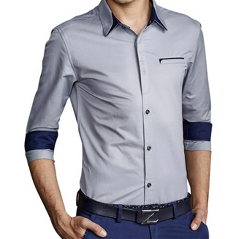 Fashion Dress Shirts Hot Slim Fit Men Size M 3xl