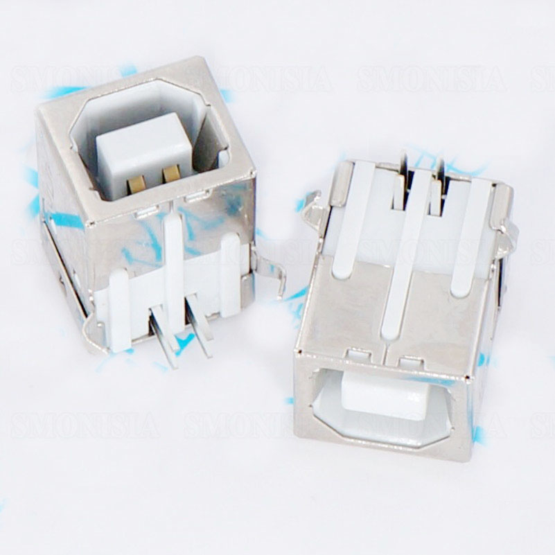 B Type USB Female Socket Printer Square Interface/USB Data Interface /USB Port 90 Degree