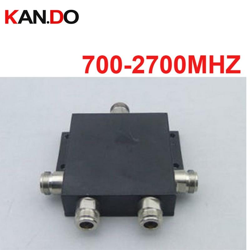 Séparateur de puissance 4 voies télécom (700 ~ 2700 MHz) diviseur de puissance séparateur de signal de téléphone diviseur de fréquence de signal pour la communication
