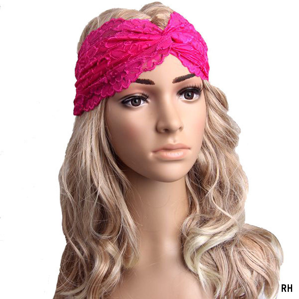 for women Wrap ornaments Hair accessories Sport Yoga elastic Fittings hoop Women Headwear Lace Headband Turban Headscarf