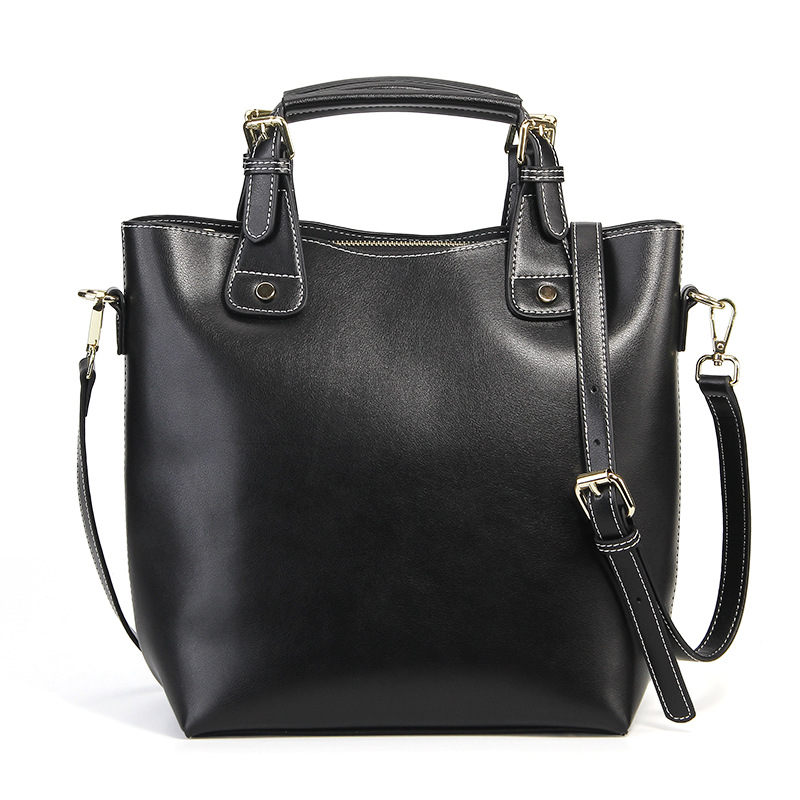 2019 Women Handbag Genuine Leather Tote Shoulder Bag Bucket Ladies Purse Casual Shopping Bag Satchel Capacity Totes2019 Women Handbag Genuine Leather Tote Shoulder Bag Bucket Ladies Purse Casual Shopping Bag Satchel Capacity Totes