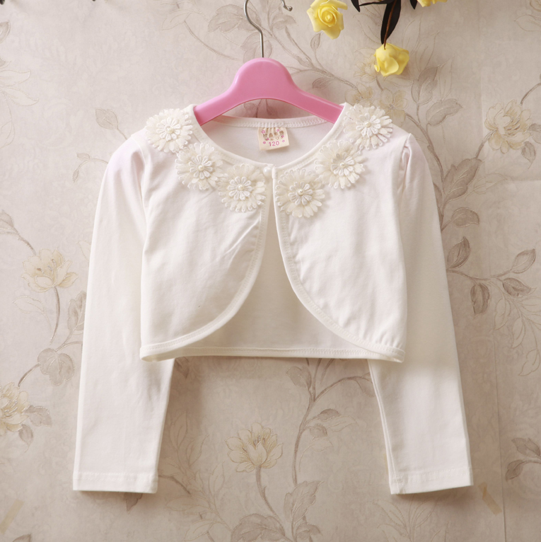 59e0f073a RL Girls Outerwear Kids Cardigan Party Weddings White Sweater Girls ...
