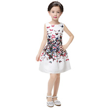 Girls Dress summer new 2019 Kids Clothes Printed sleeveless Flower Dresses 6-12 years Baby Girl Clothes