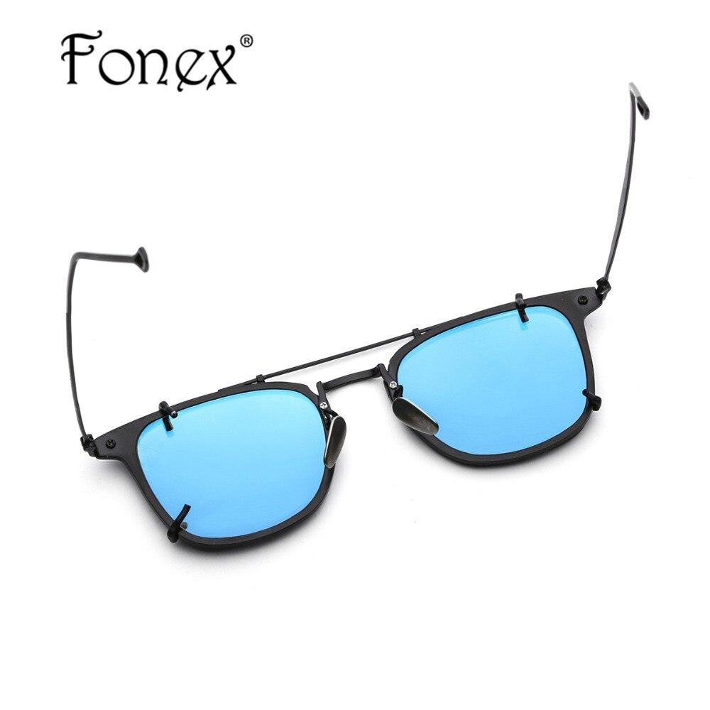 Marco de gafas de titanio puro gafas de sol polarizadas para hombre Clip en lentes de sol para dama cuadrado anteojos con marcos gafas 503 - 5