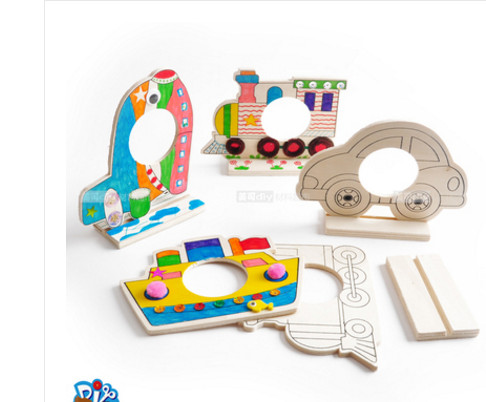 Event & Party Supplie White base wooden frame making kindergarten ...