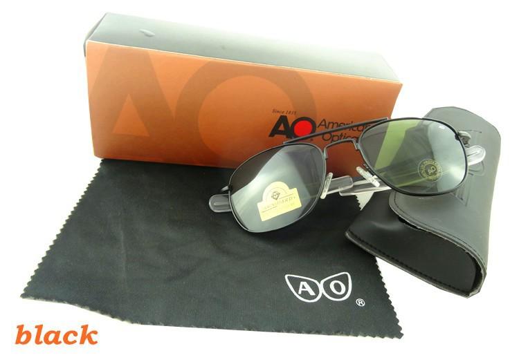 2015 новая бесплатная доставка сша ввс дизайн мода солнцезащитные очки из нержавеющей металла солнцезащитные очки с чехол и ткань стеклянной ao52