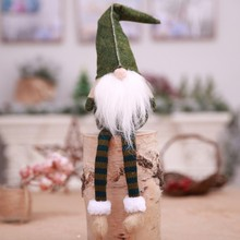 Sitting Long-legged Elf Christmas New Year Dinner Party Decorations