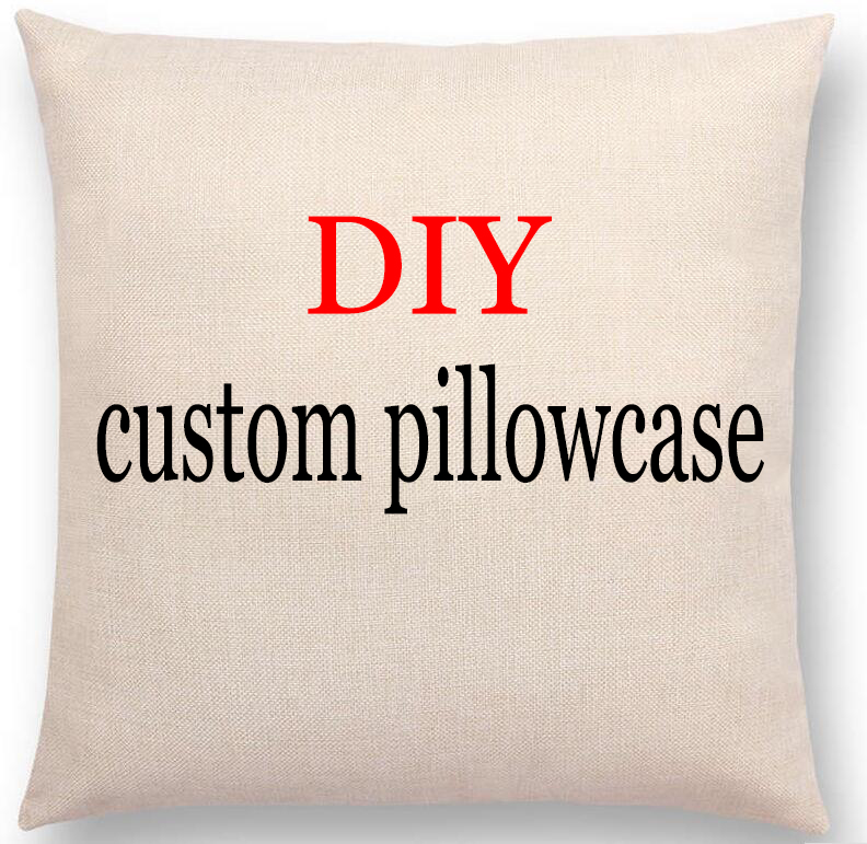 Photo or logo Custom Pillowcase for Car Chair Sofa Pillow Cover Linen Cotton Pillow Cases Cushions