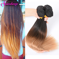 7A Ombre Brazilian Virgin Hair Straight Brazilian Hair Weave Bundles 1B/27 Two Tone Brazilian Weave Hair Straight Brazilian Hair