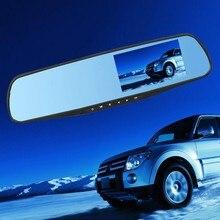 Портативный Автомобильный Видеорегистратор Видеокамера 4.3 Дюймов градусов HD Синий Камеры Автомобиля Зеркало Заднего Вида Рекордер Ночного Видения USB2.0