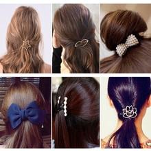 1/2/3pcs Women Girls Hair Clips Geometric Alloy Barrettes Headwear Hairpins Headbands Female Accessories Hairclips