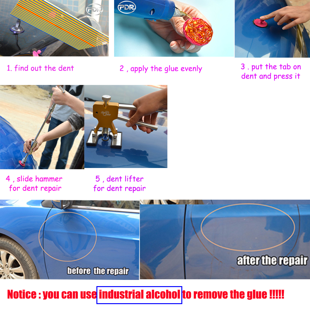 PDR Tools Dent Removal Paintless Dent Repair Tools PDR Dent Puller - Sady nástrojů - Fotografie 6