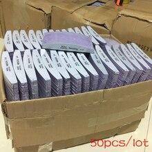 50 шт. 100/180 шлифовальная наждачная бумага для ногтей, моющаяся пилка для ногтей, полупрозрачный банан, полировка, изогнутые профессиональные маникюрные инструменты, набор
