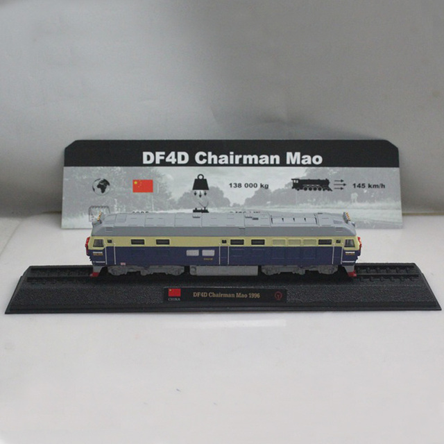1:160 China DF4D Chairman Mao 1995 Model trains Static alloy Toy Train Children's toy car