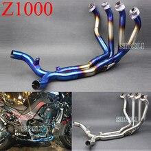 Z1000 motocykl wydechowy tłumik rury zmodyfikowany Stainess stali pełny System dla Kawasaki Z1000 2010 2011 2012 2013 2014 2015 2016