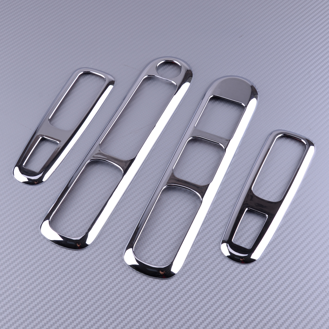 beler Chrome Car Door Armrest Panel Handle Holder Window Lift Switch Button Cover Trim Sticker Fit For Peugeot 3008 2009-2015 image