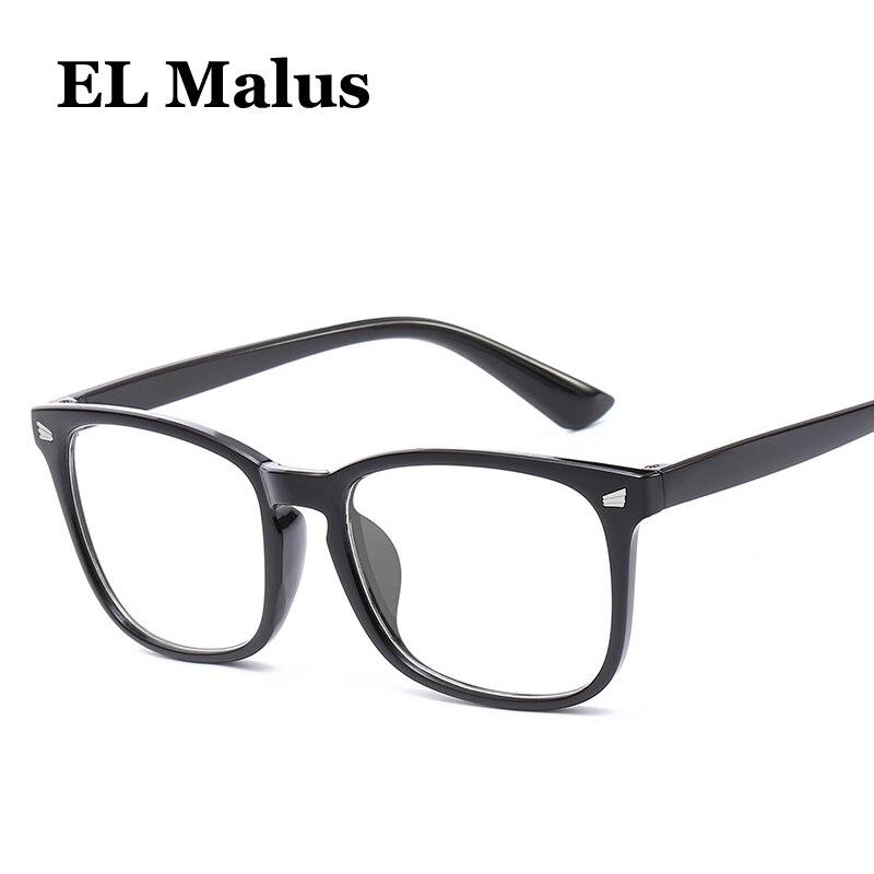 [EL Malus]Square Frame Eyeglasses Blue Light Blocking Glasses Anti Blue Radiation Lens Women Mens Retro Black Blue Tan Shades blue light blocking glasses