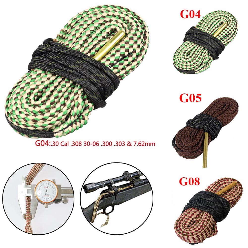 Shooting Gun Cleaner Snake Rope Hunting Rifle .280.308 .303 Calibre 7mm 7.62mm 4.5mm Gun Cleaning Accessories