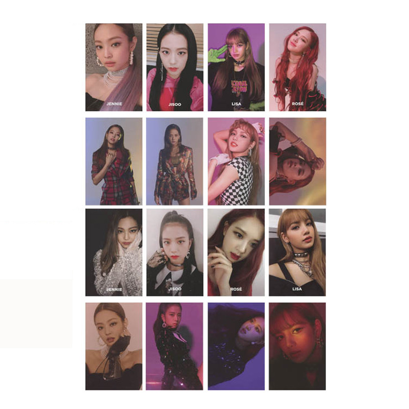 Youpop KPOP BLACKPINK SQUARE UP Album Photo Card Hip Hop Self Made Paper Cards Autograph Photocard