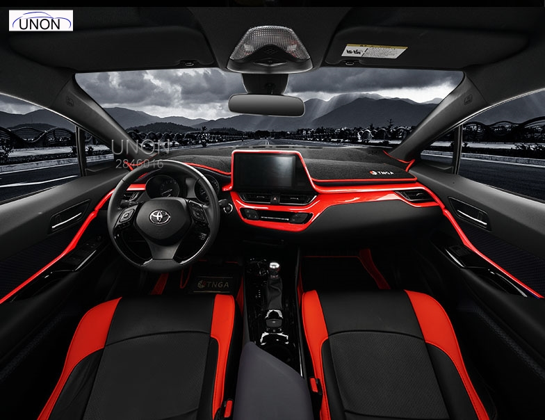 Carbon Refit And Decorate Special Auto Interior Fittings And Fittings Instrument Trim For Toyota CHR 2016 2017 2018 Car Styling