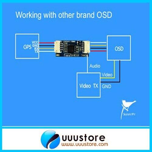 Skylark OSD Convert Module Adapter for other brand OSD Auto Antenna Tracker III skylark aat auto antanna tracker iv w compass bluetooth for fpv latest version