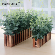 10pcs Artificial Eucalyptus Leaves Fake Wall Foliage Silk Fabric Leafs Green Plant Bouquet Tropical Leave for Autumn Home Decor