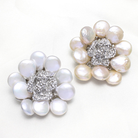 Statement Flower Rhinestone Wedding Bridal Gifts Womens Brooch Can Be Used As Brooch Or Pendant Natural