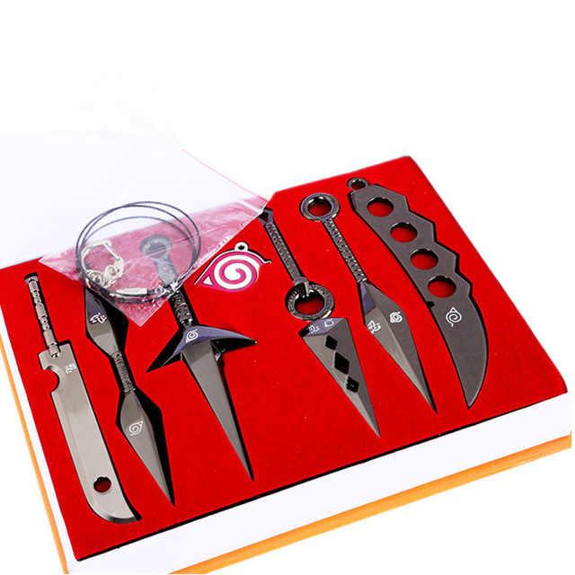 7 cái/bộ Hợp Kim Thanh Kiếm Đồ Chơi Quân Sự dao Naruto Hatake Kakashi Deidara Kunai Shuriken Hình Vũ Khí Đồ Chơi Cosplay Đồ Chơi Cậu Bé Món Quà