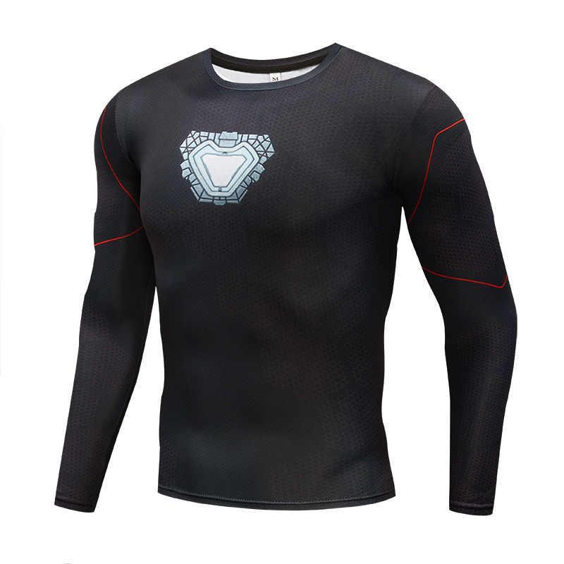 Футболка с 3D принтом для косплея Железного человека, Tony Stark Custume, мужские спортивные облегающие футболки супергероя, топы, спортивные костюмы X Task Force