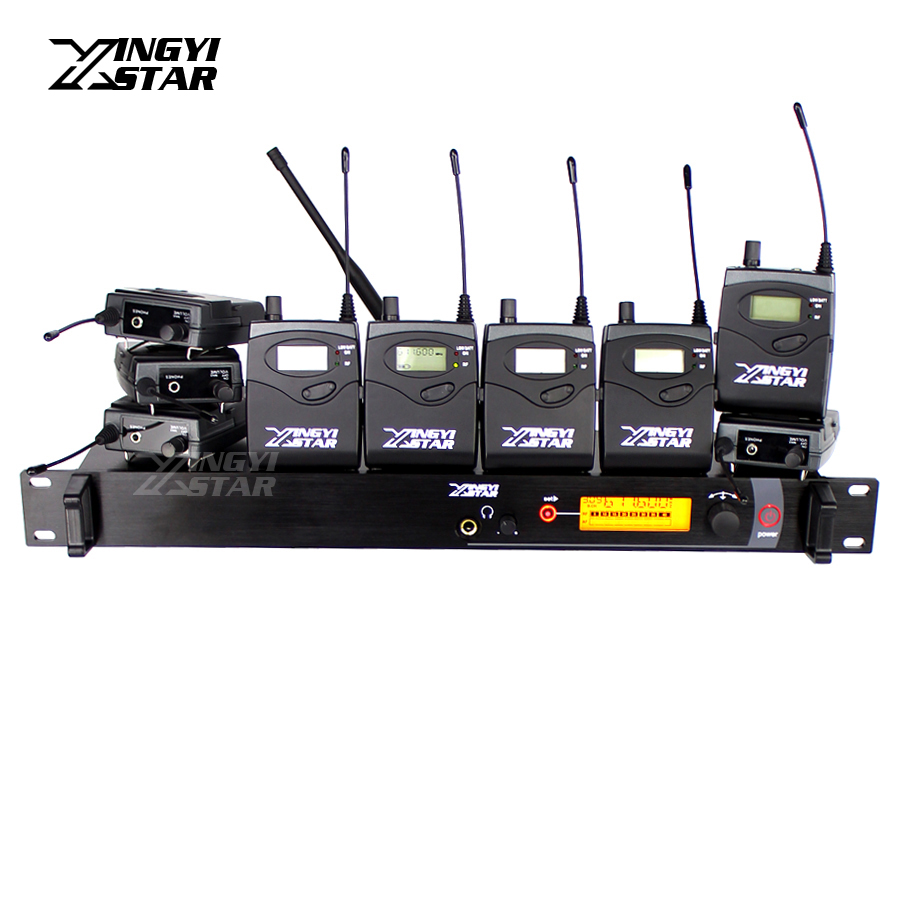 Professional Monitoring UHF Wireless In Ear Earphone Stage Monitor System One Transmitter With 9 Receiver Video Recording Studio wireless pager system 433 92mhz wireless restaurant table buzzer with monitor and watch receiver 3 display 42 call button