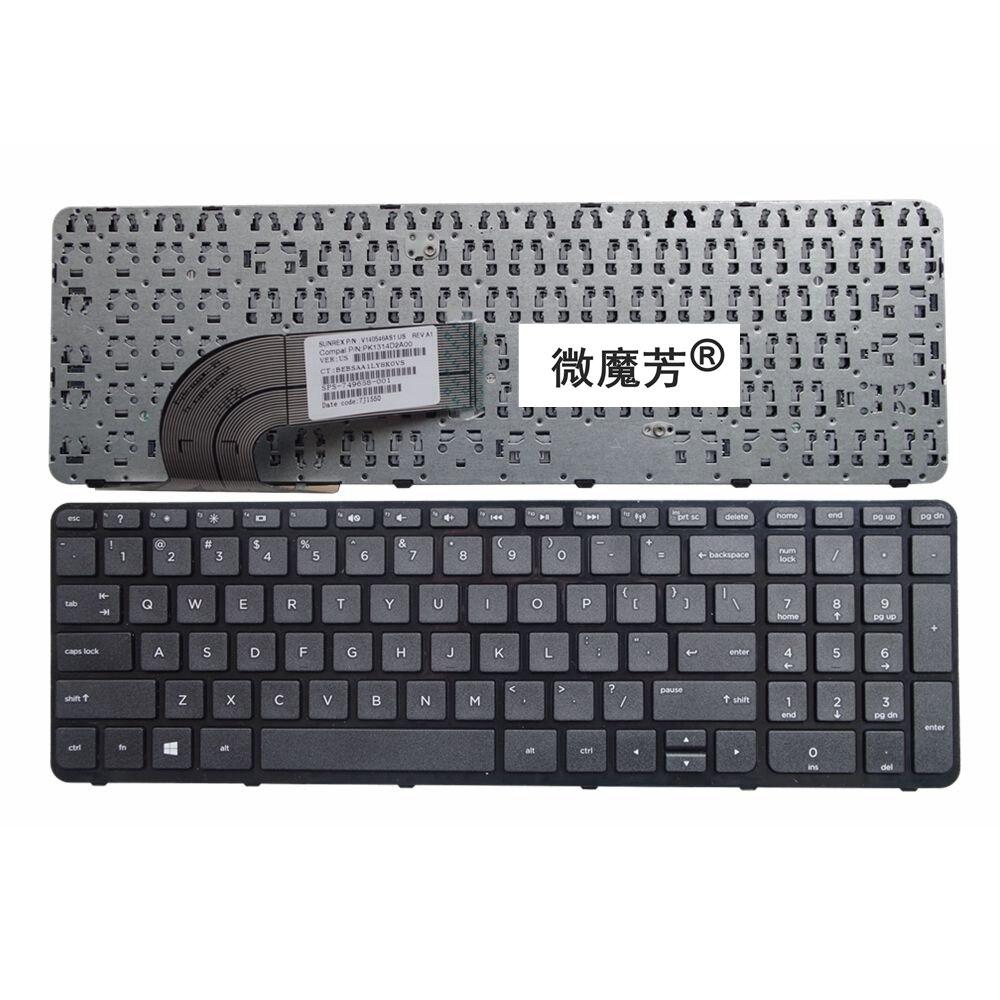 US Laptop Keyboard FOR HP TPN-Q130 TPN-Q132 FOR Pavilion 15-E 15E 063TX 066 042 064 041 065 029 15-e063TX E042 Black New English
