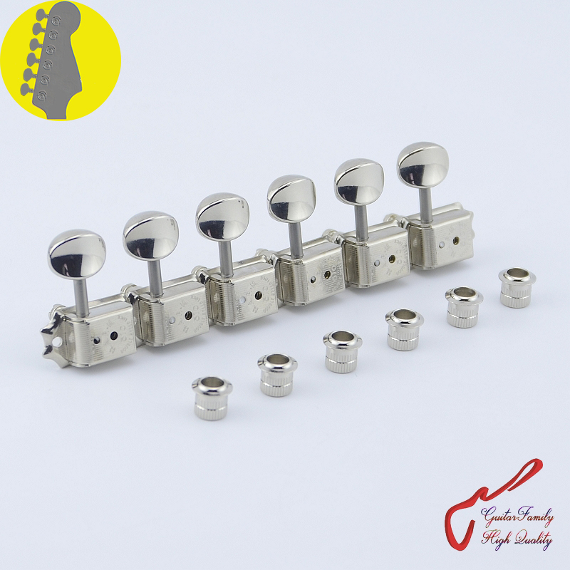 Original Genuine 6 In-line  GOTOH SDS510-05M-HAPM  Kluson Vintage Guitar Locking Machine Heads Tuners  ( Nickel ) MADE IN JAPAN 1 set guitarfamily 6 in line kluson vintage guitar machine heads tuners nickel made in korea