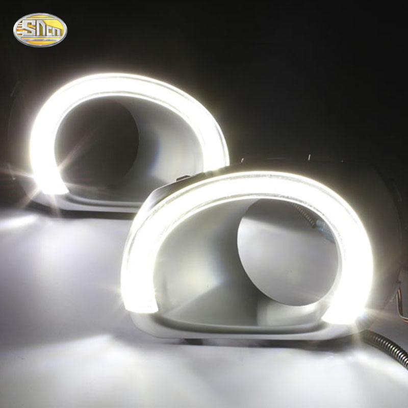 SNCN LED Daytime Running Lights For Subaru Outback 2010 2011 2012 Fog lamp cover 12V ABS hot sale abs chromed front behind fog lamp cover 2pcs set car accessories for volkswagen vw tiguan 2010 2011 2012 2013