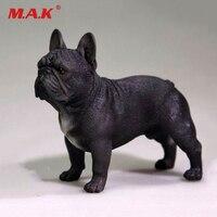 Black 1/6 Simulation Resin French Bulldog Dog Puppy Pet Animal F 12 Toys