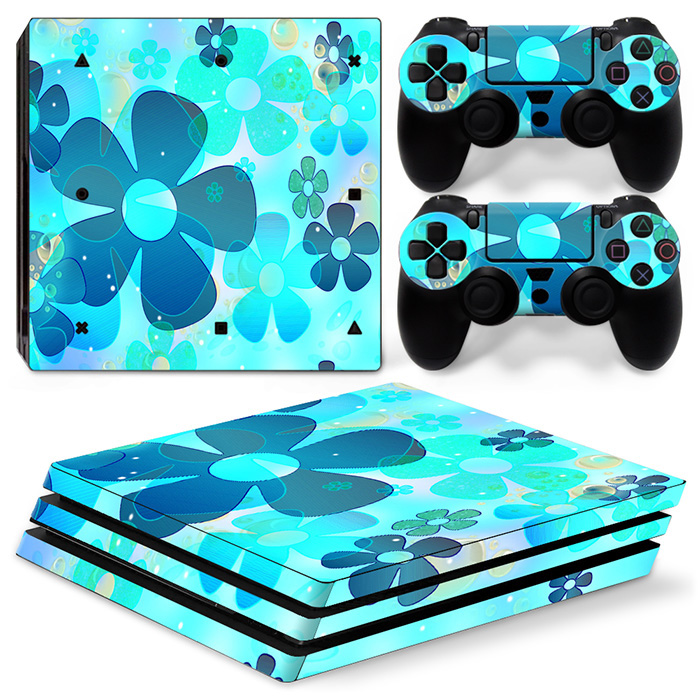 Easily Paste Vinyl Decal and PROtective Skin Sticker for PS4 PRO console and 2 controller