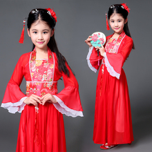 4b14e5a60d Ancient Chinese Costume Kids Dress Seven Fairy Hanfu Clothing Folk Dance  Performance Chinese Tang Traditional Dresses
