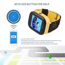 Сенсорный экран SOS аварийной сигнализации телефонной книги Wechat дети наручные часы дети умные часы GPRS базовой станции позиционирования
