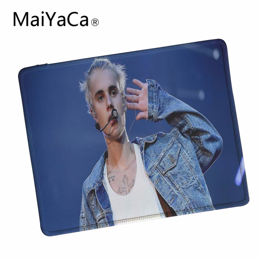 MaiYaCa Justin Bieber Computer Mouse Pad Mousepads Decorate Your Desk Non-Skid Rubber Pad Lock Edge Mouse Pad