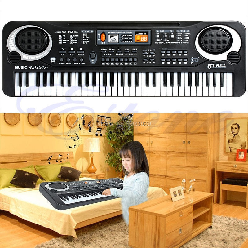 61 Keys Digital Music Electronic Keyboard Key Board Gift Electric Piano Gift -B116 11 key electronic music box piano toy red 3 x aa