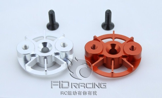 Cooling Clutch Plate for Losi 5ive T Baja 5B MCD FG silver and orange Fid032 billet rear hub carriers for losi 5ive t