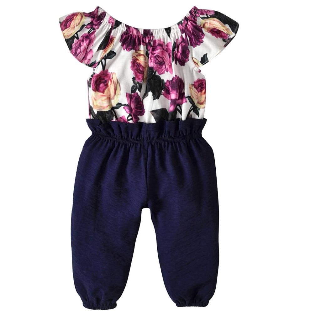 US Floral Toddler Kids Baby Girl Clothes Romper Bodysuit Jumpsuit Outfit Dresses