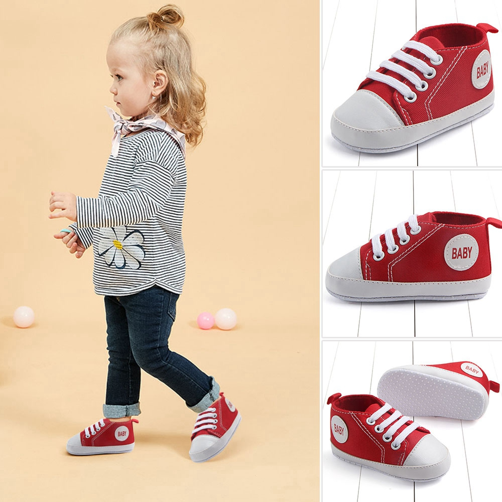 New Cotton Classic Sports Sneakers Newborn Baby Boys Girls First Walkers Shoes Infant Toddler Soft Sole Anti-slip Baby Shoes