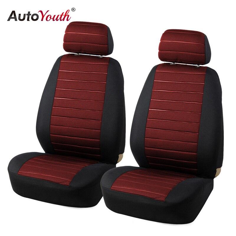 AUTOYOUTH Marke 2 stücke Auto Sitzbezüge 5mm Schaum Airbag Kompatibel Universal-Fit Die Meisten Vans Minibus Getrennt Auto Sitz