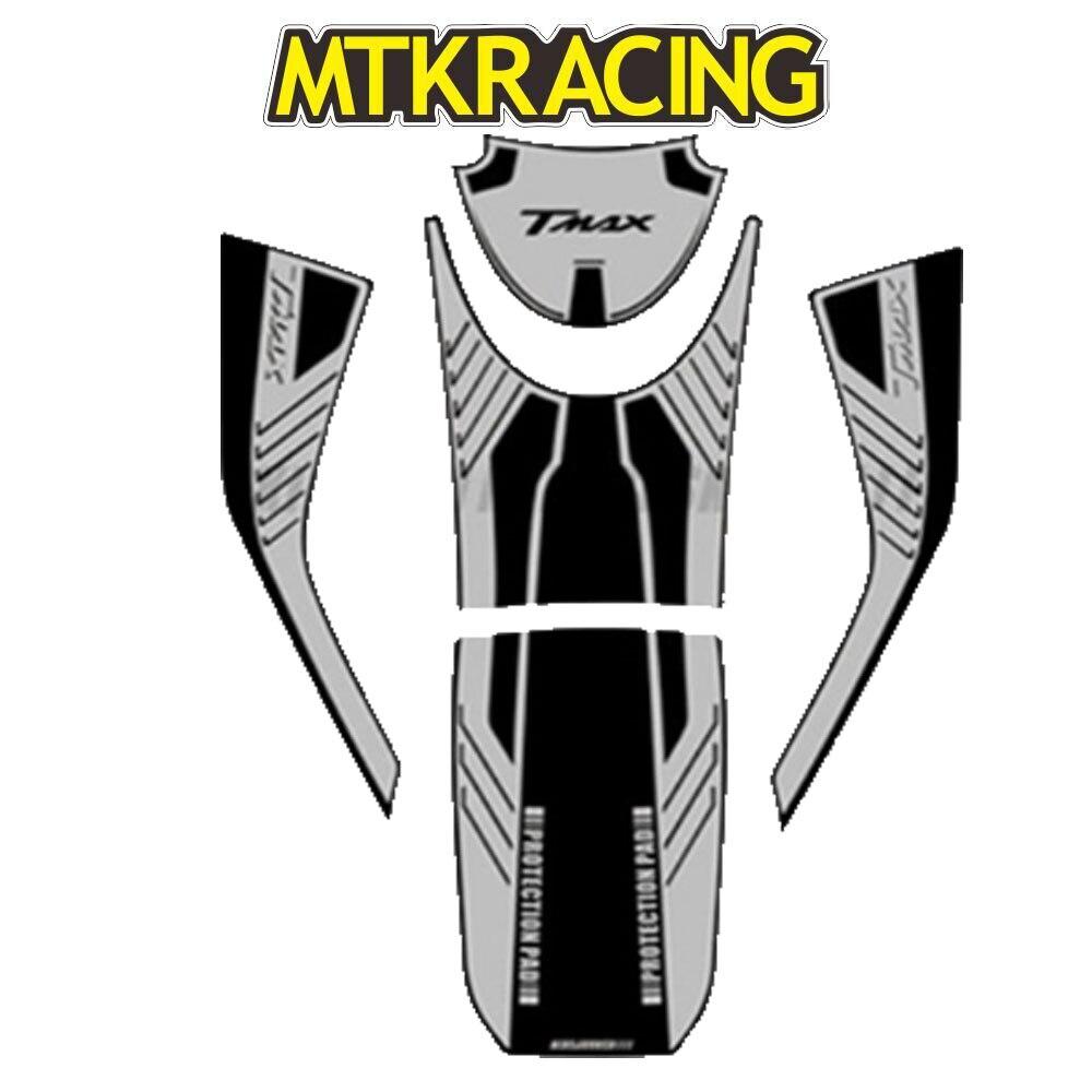 MTKRACING pour YAMAHA TMAX530 TMAX 530 DX SX Sport 2017 2018 3D autocollant autocollant autocollant emblème Protection réservoir bouchon de gaz