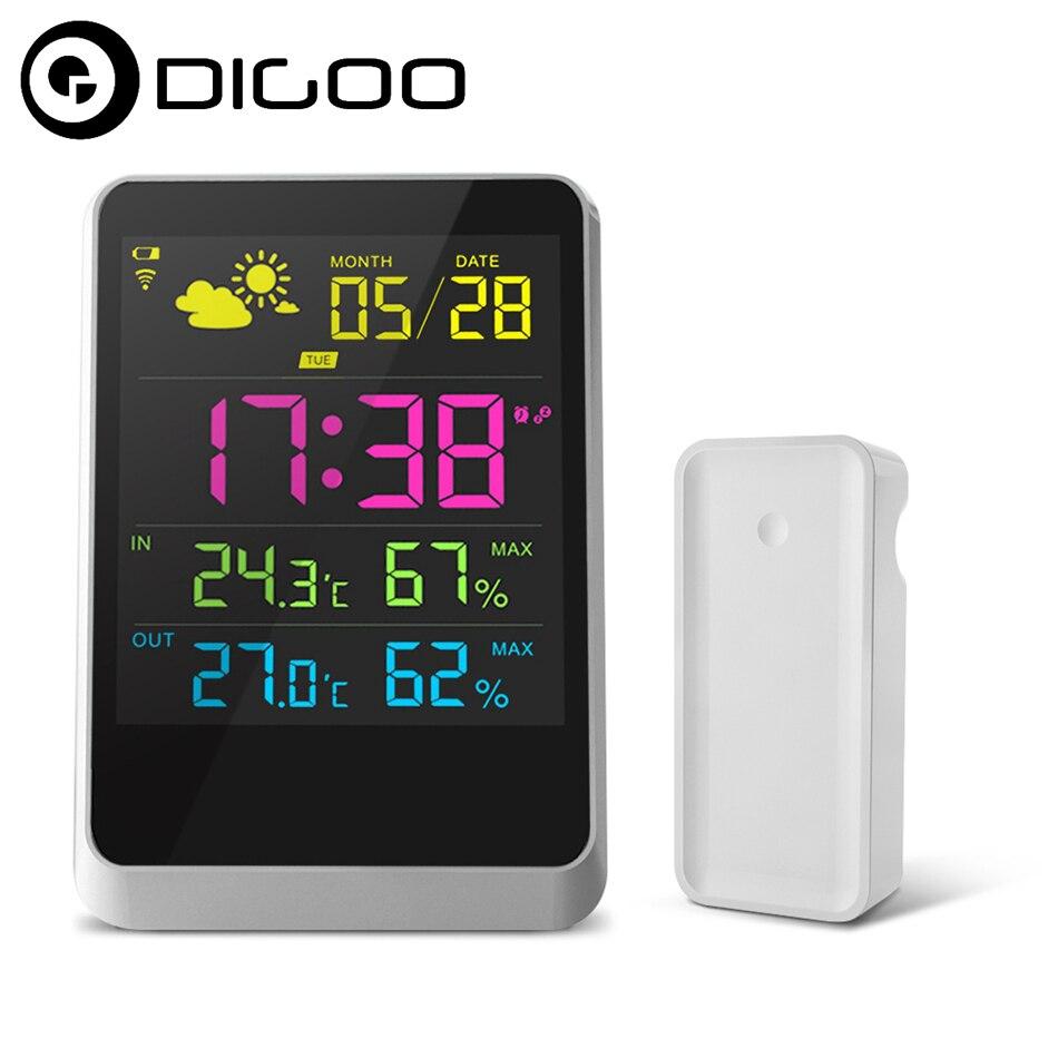 DIGOO DG-TH11200 Smart Home HD coloré Mini Station météo pour thermomètre hygromètre température humidité capteur horloge