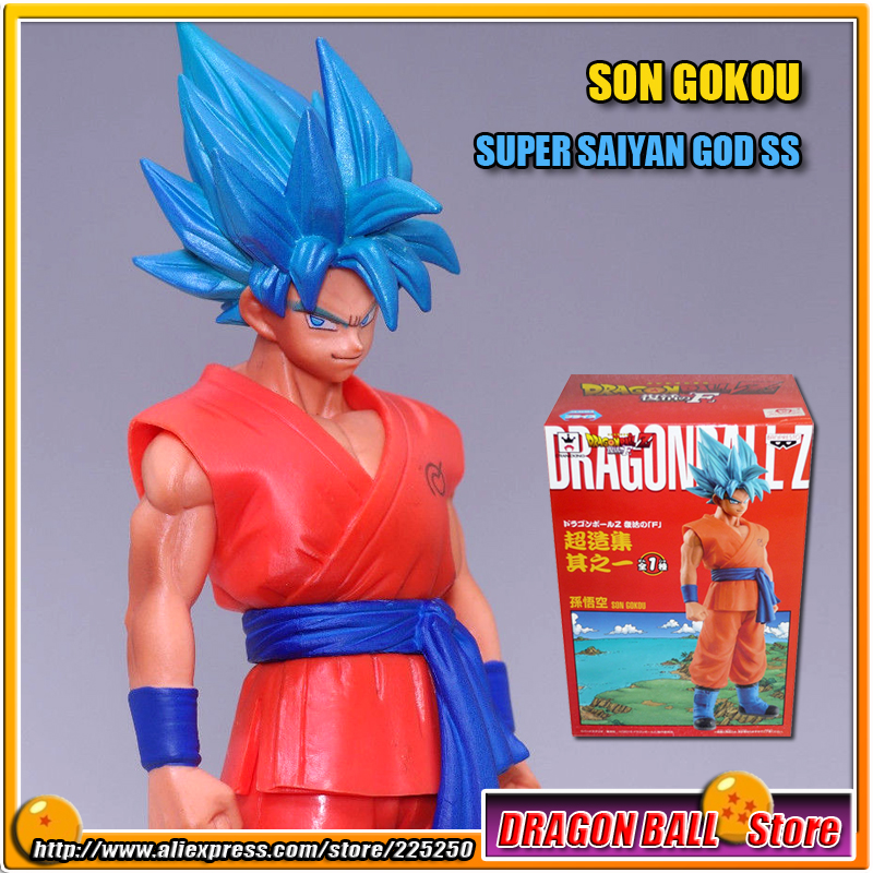 Japan Anime DRAGONBALL Dragon Ball Z Resurrection of F Original BANPRESTO Chozousyu Figure Vol.1 - Super Saiyan God SS Gokou