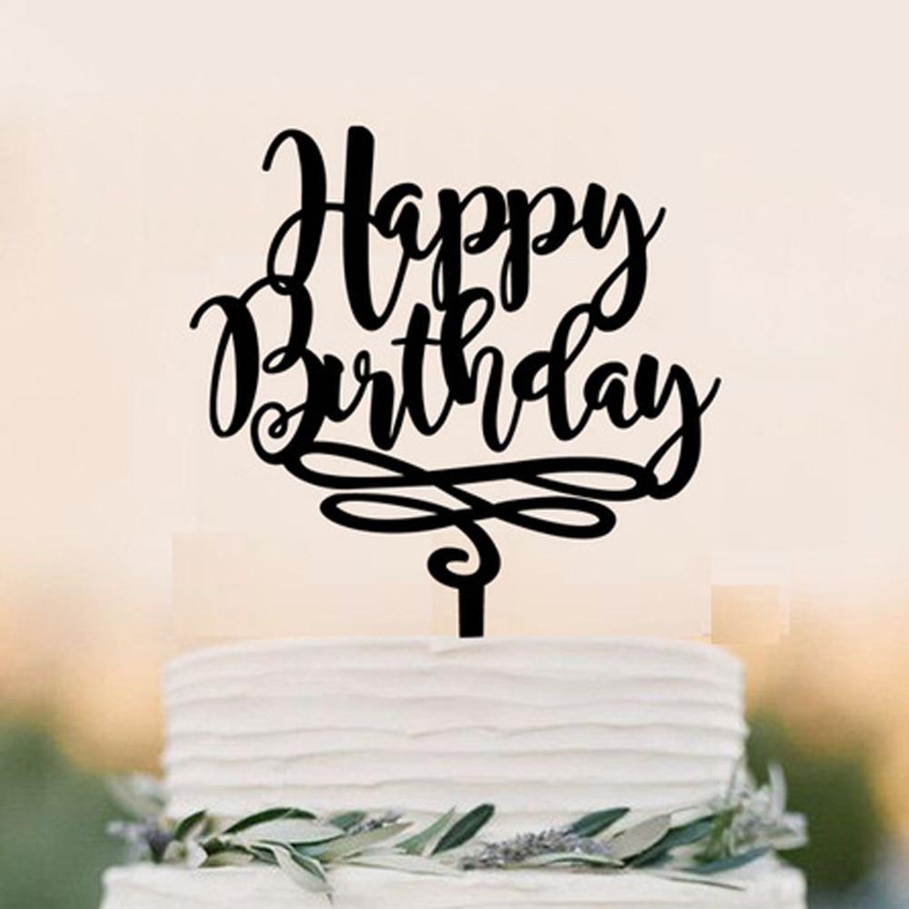 Birthday Cake Topper ,Happy Birthday Cake Topper